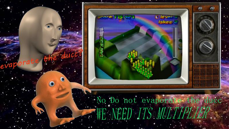 Illustration for article titled Wetrix, or Vaporwave/r/Surreal Memes: The N64 Puzzle Game