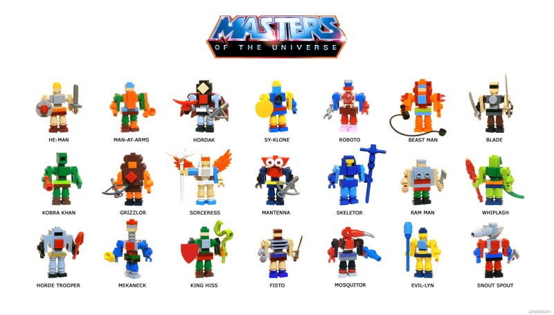 Illustration for article titled By the power of Grayskull, these Lego He-Man figures have the power