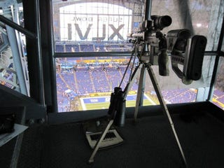 Illustration for article titled This Looks Like A Fortified Sniper's Nest At The Super Bowl
