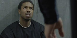 Michael B. Jordan plays Oscar Grant in Fruitvale (Screen grab courtesy of Sundance Film Festival)