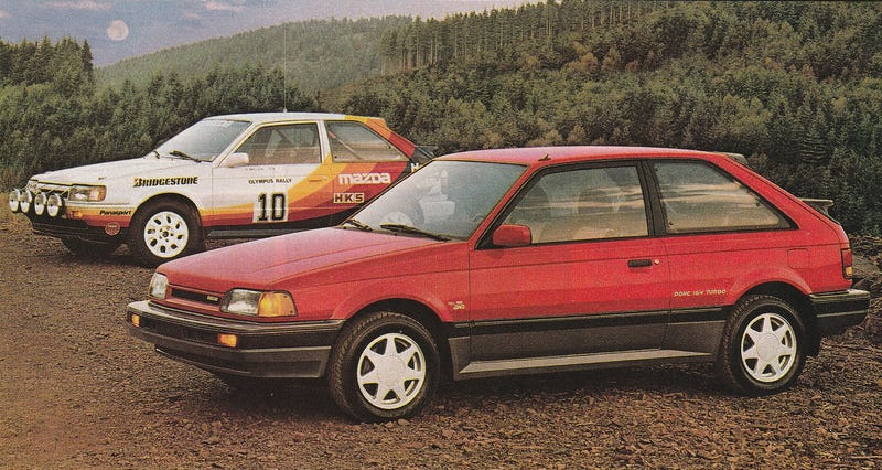 Let me tell you whats a real righteous rocket craft the mazda 323 gtx how mazda sold the 323 gtx photo mazda altavistaventures Choice Image