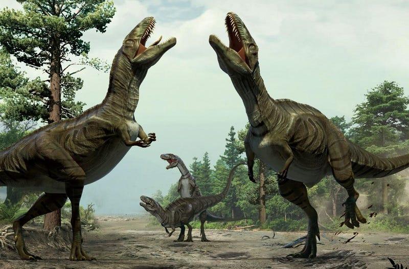 Illustration for article titled ¿Bailaban los dinosaurios? Eso parecen decir sus huellas