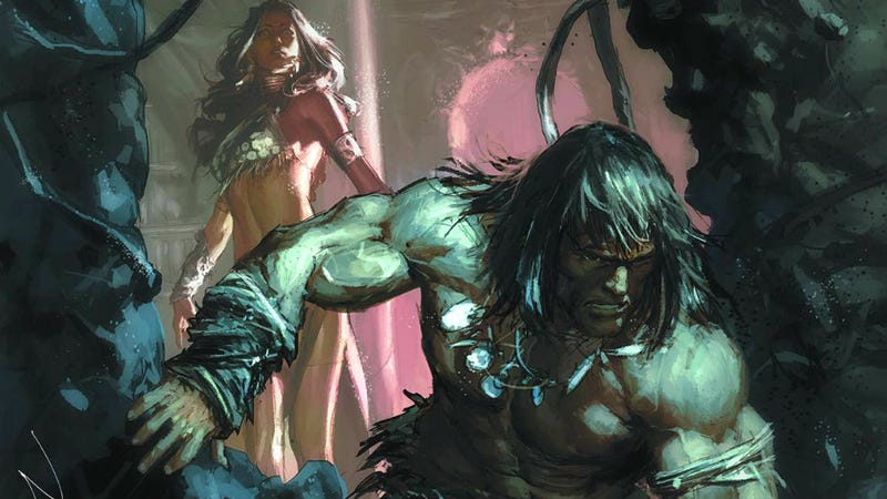 Illustration for article titled Dark Horse is adapting Hour of the Dragon, Howard's best Conan story