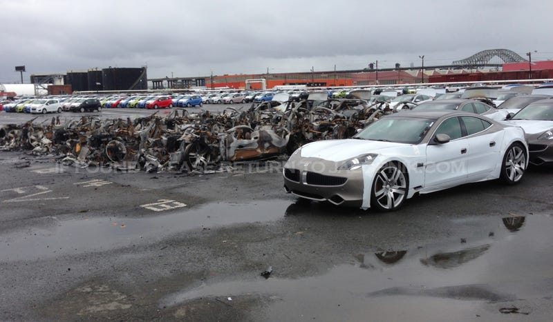 And As We Exclusively Told You That Included A Fire Destroyed 16 Fisker Karma Plug In Hybrids Port Newark