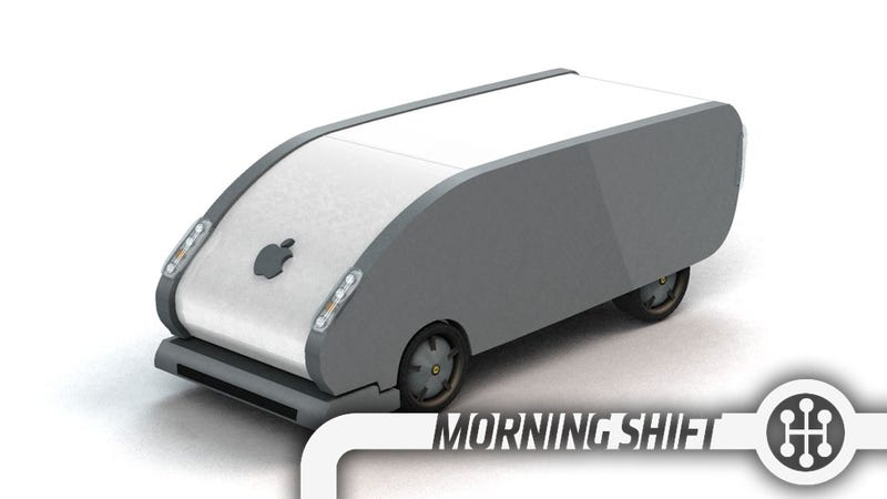 Render credit Jason Torchinsky. Not the actual Apple Car. Settle down.