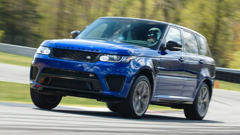 Illustration for article titled First Drive: The $130000 Range Rover Sport SVR Is A 550 HP Wall Of Noise
