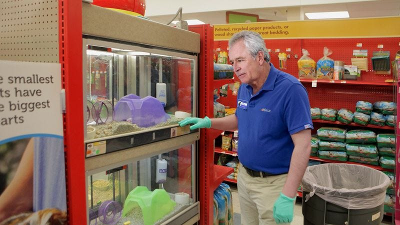 Illustration for article titled PetSmart Manager Does Morning Sweep Of Enclosures For Dead Ones Before Opening Doors For Day