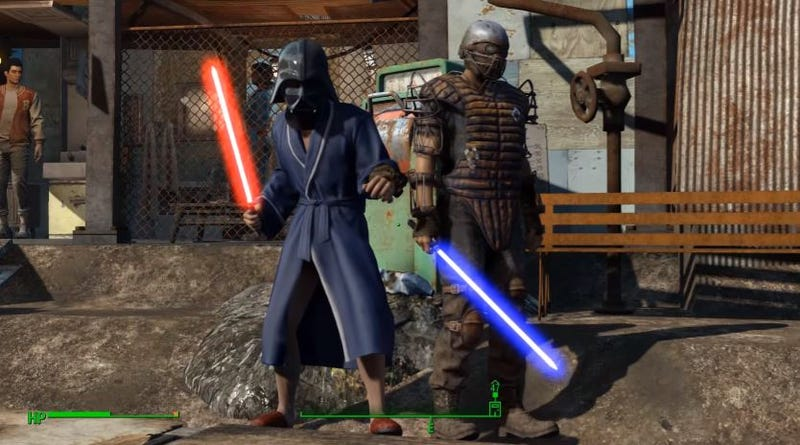 Illustration for article titled Fallout 4 Star Wars Mod Lets You Kill People With Lightsabers