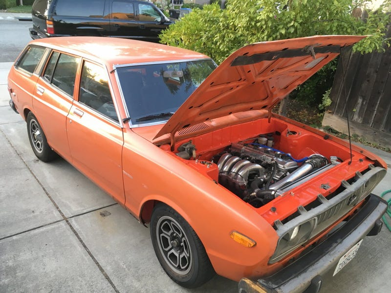 Illustration for article titled At $7,000, Could This KA24DE-Swapped 1975 Datsun 710 Be Your Throwback Throw Down?