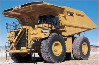 Illustration for article titled Caterpillar 793, World's Coolest Dump Truck, Now With Electric Drive