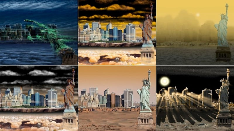Illustration for article titled What New York City Would Look Like on Other Planets