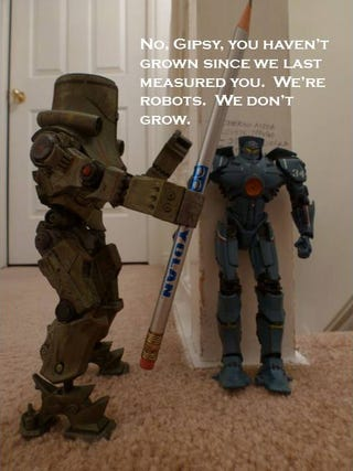 Illustration for article titled In Which My Jaegers Argue Over Who's the Tallest