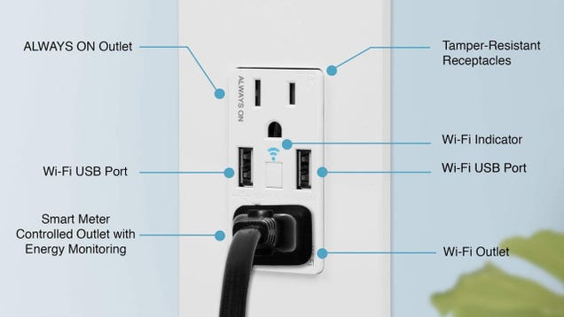 Finally, You Can Get a Power Receptacle With a Built-In Smart Plug, Now 20% Off