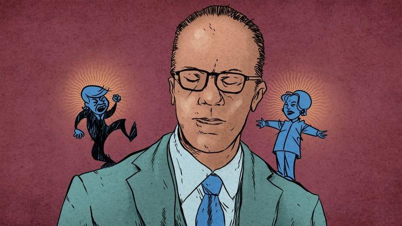 Lester Holt has gremlins (Illustration: Nick Wanserski)