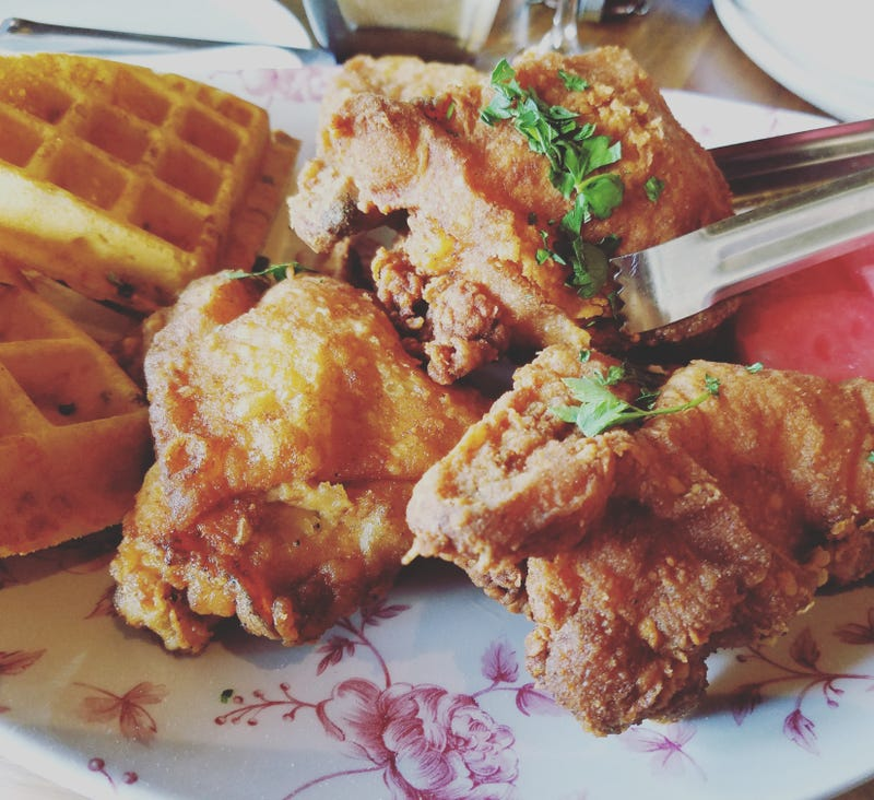 The fried chicken and waffles I had at Yardbird a few weeks ago