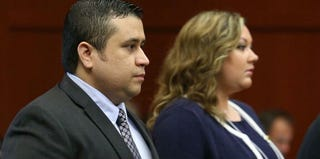 George and Shellie Zimmerman in court during his second-degree murder trial (Joe Burbank/Pool/Getty Images)