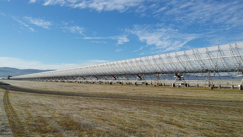 Radiotelescopio principal del Observatorio de Molonglo, en Australia. Foto: UTMOST