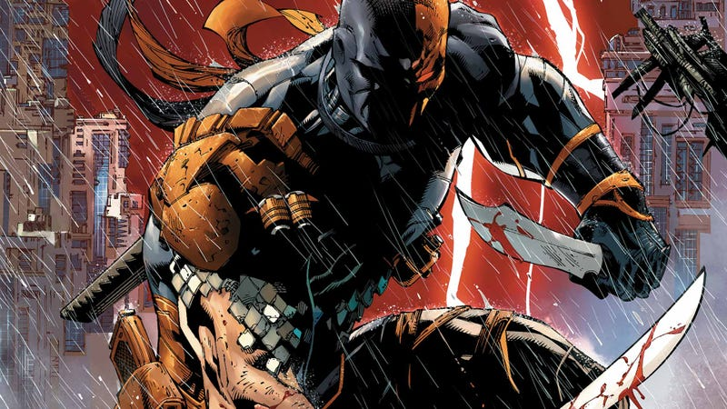 Illustration for article titled Deathstroke será el villano en la nueva película de Batman. Este es su primer vídeo
