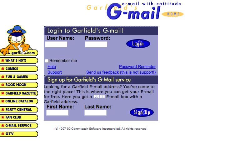 Image: gmail.garfield.com via Internet Archive