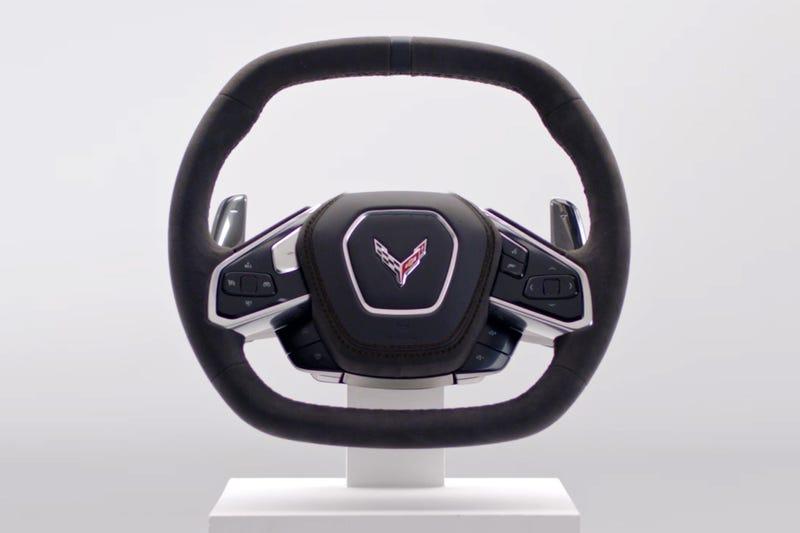 The Mid-Engine C8 Corvette's Steering Wheel Is A Nice Evolution