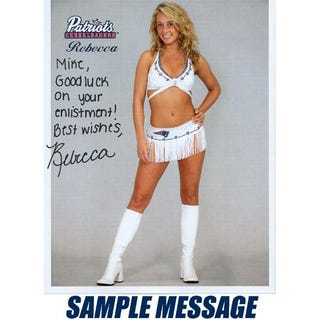 Illustration for article titled Morning Blogdome: The Patriots Would Like To Sell You Autographed Pictures Of Their Teenage Cheerleader