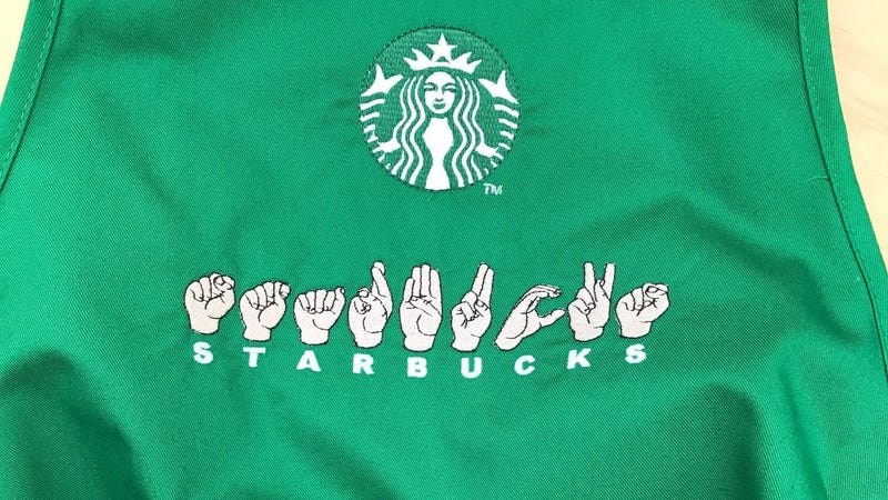 """Illustration for article titled Starbucks to open first U.S. """"signing store"""" staffed by ASL-proficient staff"""