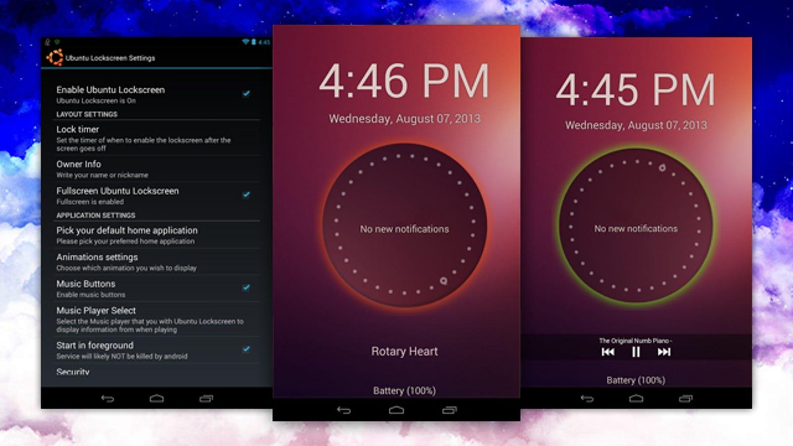 Ubuntu Lockscreen Adds Notifications and Ubuntu's Looks to