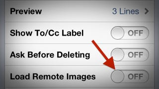 Illustration for article titled Disable Remote Images in iOS Mail to Cut Down on Bandwidth and Spam