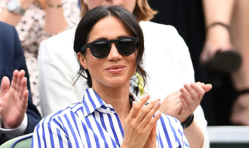 Meghan, Duchess of Sussex attends Wimbledon on July 14, 2018, in London, England.