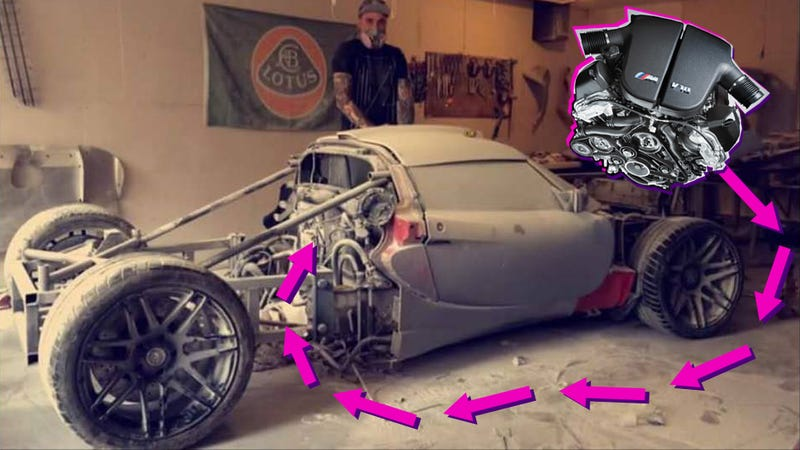 Praise All That Is Unholy: Here's A BMW V10 Swapped Into A