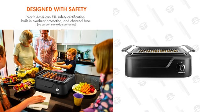 Barbecue Indoors With This $70 Smokeless Grill