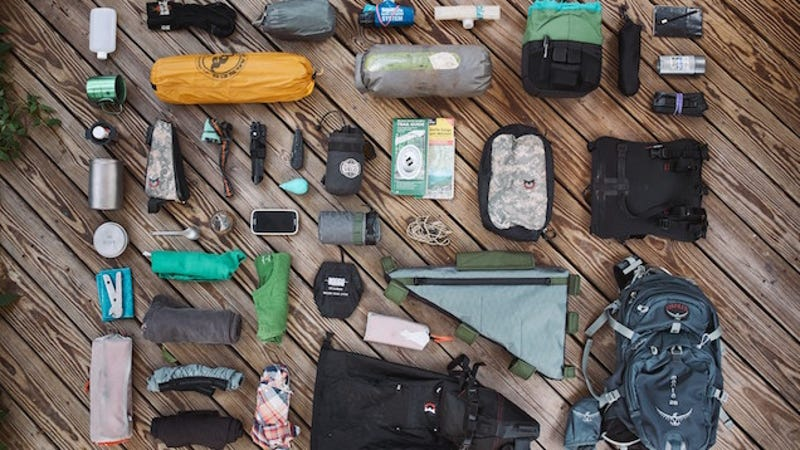 backpacking camping materials