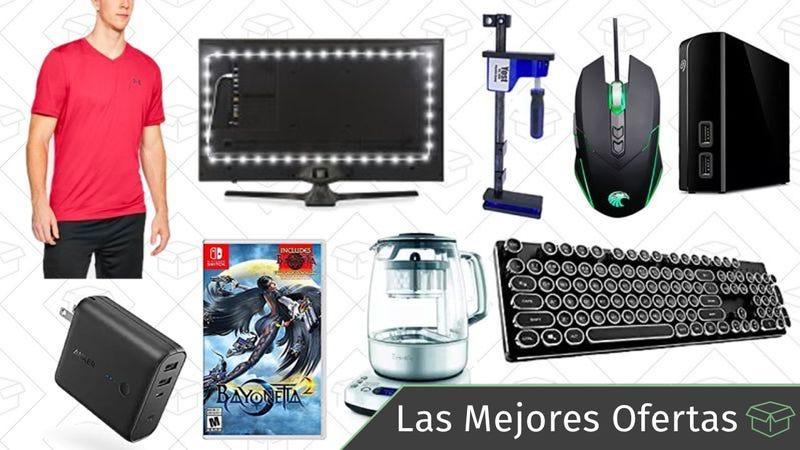 Illustration for article titled Las mejores ofertas de este martes: Cargador USB de viajes, tiras de luces, tetera Breville y más
