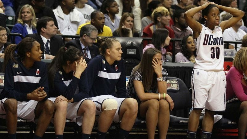 Illustration for article titled UConn Women Disgusted They Lost To Women's Basketball Team