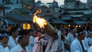 Purification ritual during Gion Matsuri. Kyoto, Japan. By Vincent Fournet.