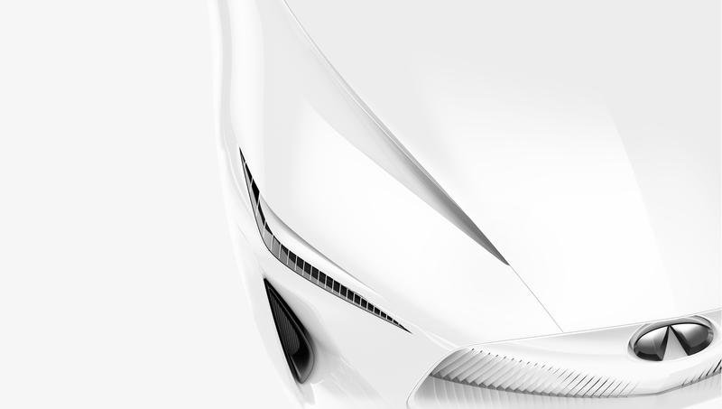 Illustration for article titled Infiniti Teases Their New Concept Car And It Looks A Bit Like A Napkin