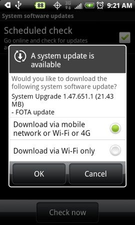 Illustration for article titled HTC EVO 4G Receives OTA Update 1.47.651.1 (For Improving Wi-Fi?)