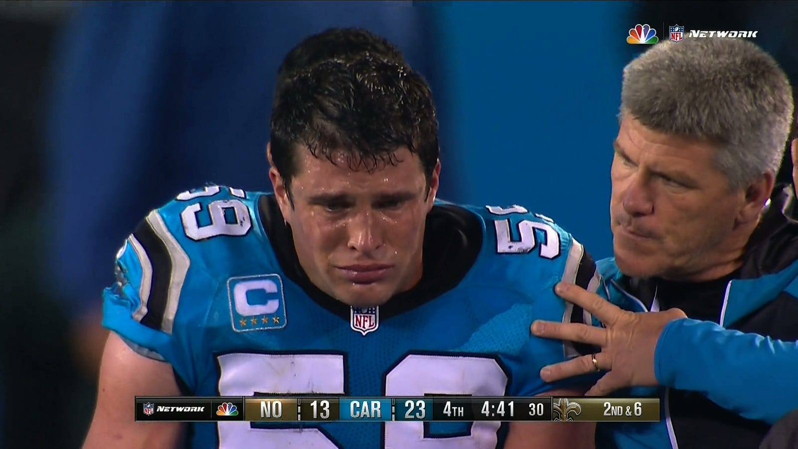 Luke Kuechly Weeps His Way f The Field After Scary Injury