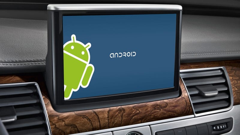 Illustration for article titled ​Google Will Infiltrate Your Car With Android Infotainment System