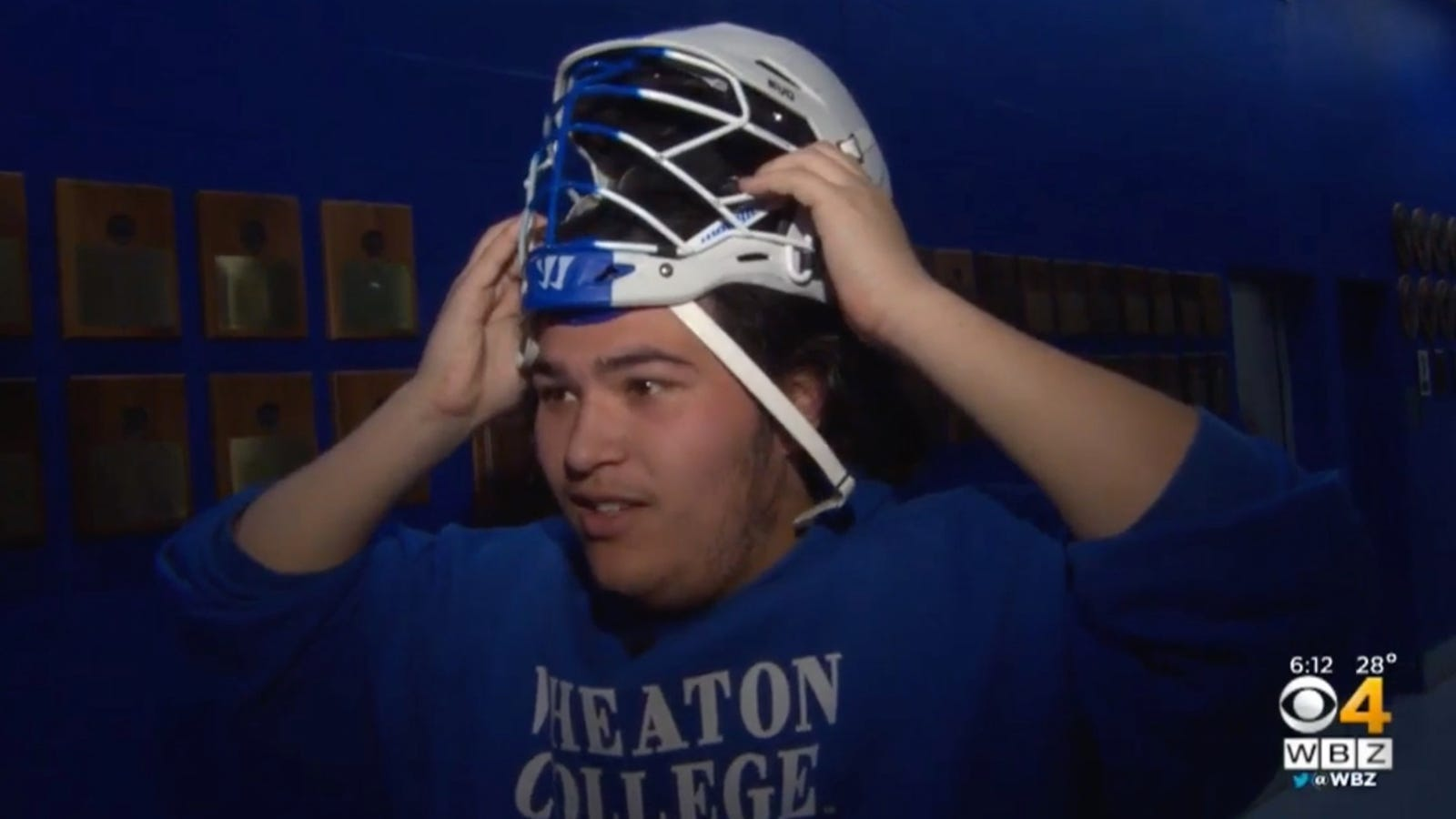 College Lacrosse Player Forced To Sit Out Because His Head Is Too Big