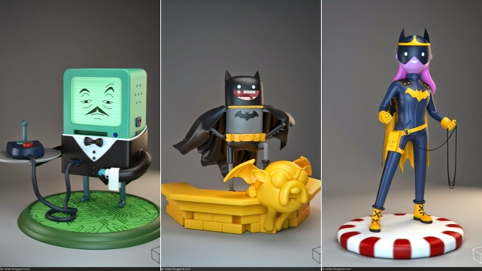 Someone Please Turn These Adventure Time/Batman Mashups Into