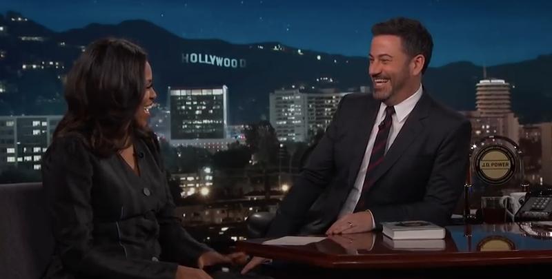 Michelle Obama, Jimmy Kimmel