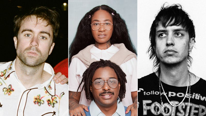Justin Long of The Vaccines (Photo: Courtesy of Red Light Management), Jean Grae and Quelle Chris (Photo: Mindy Tucker), and Julian Casablancas of The Voidz (Photo: RCA)