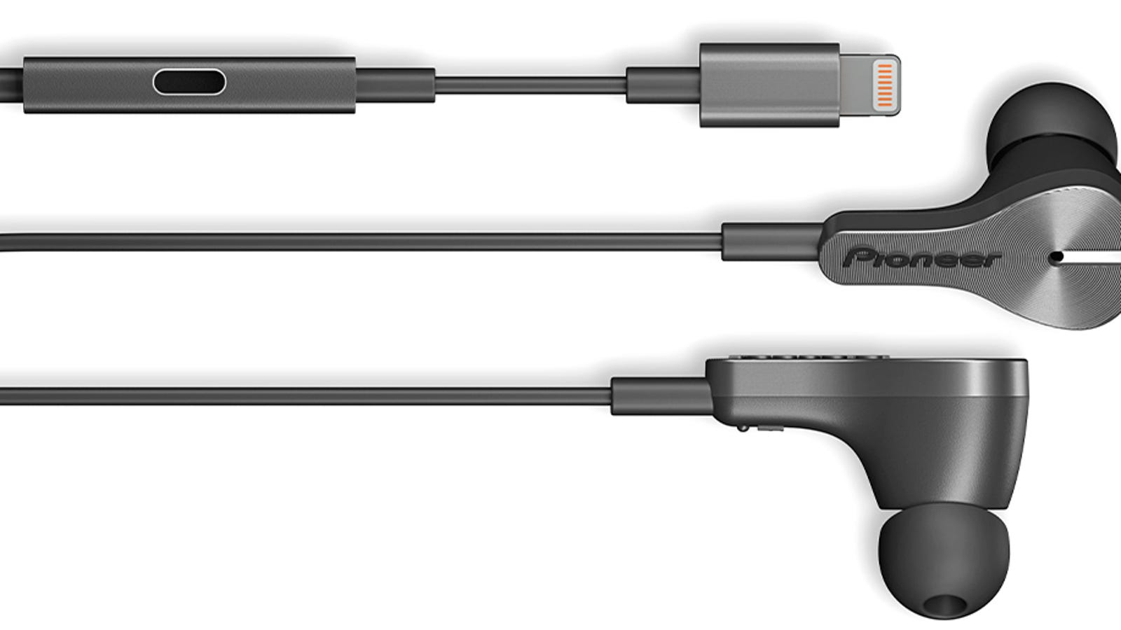 headphone cable dual male - Pioneer's New Lightning Earbuds Solve an Annoying iPhone Problem