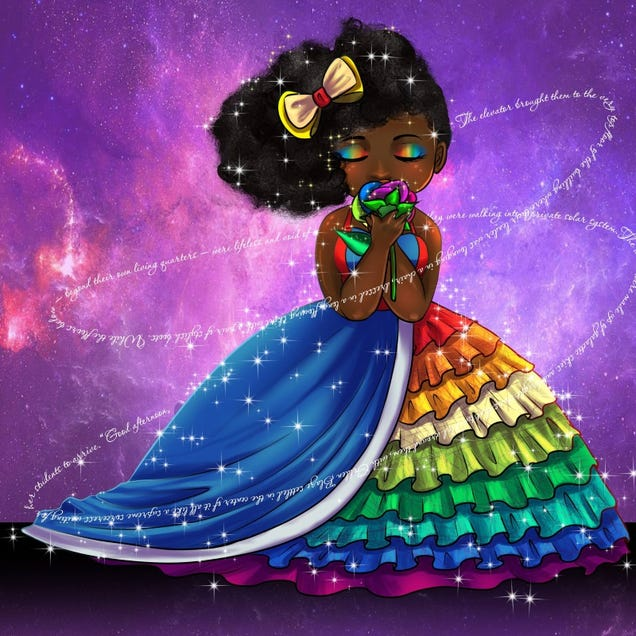 The author, illustrated in her Rainbow Brite cosplay (Tyrine Carver of Musetap Studios/courtesy of Briana Lawrence)