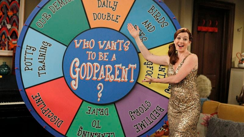 "Illustration for article titled How I Met Your Mother: ""Who Wants To Be A Godparent?"""