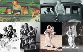 Illustration for article titled Norman Rockwell: The Original King of the Photoshop