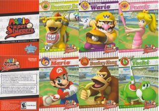 Illustration for article titled Check Out These Official Mario Super Slugger Baseball Cards