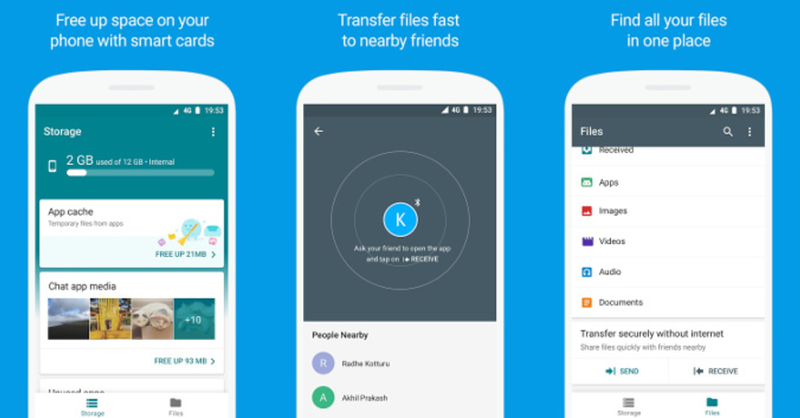 Google launches Files Go Beta for offline sharing and file management