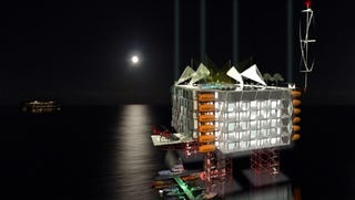 Illustration for article titled Oil Rigs Become Luxury Hotels